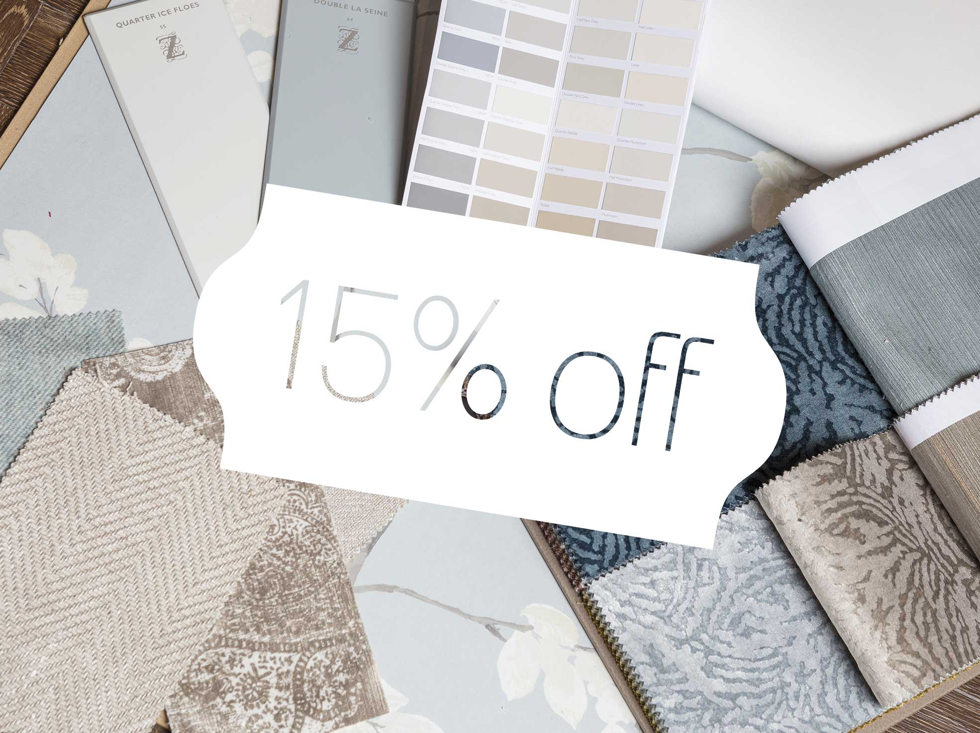 This summer, there's 15% off in our showroom